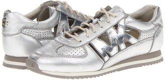 MICHAEL Michael Kors Logo Punch Trainer (Silver Metallic Soft Venus) - Footwear