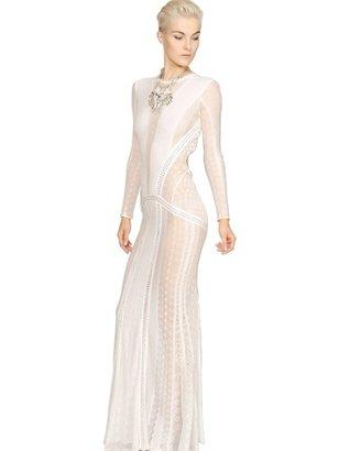 Roberto Cavalli Viscose Lace Long Dress