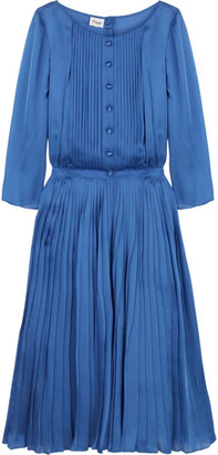 Temperley London Silk pleated dress
