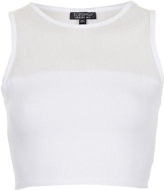 Topshop Mesh Crop Vest