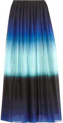 Jonathan Saunders Beth dégradé pleated silk-chiffon maxi skirt