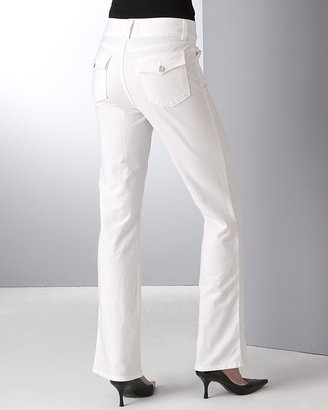 Not Your Daughter's Jeans Wide Waist Bootcut Jeans in White Wash