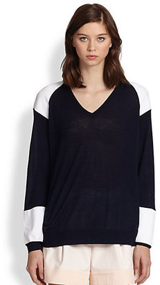3.1 Phillip Lim Oversized Colorblock Wool Sweater
