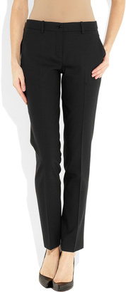 Michael Kors Samantha stretch-wool twill straight-leg pants