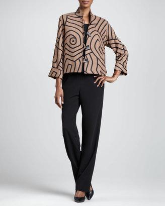 Caroline Rose Stretch-Gabardine Travel Pants, Women's