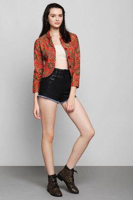 Urban Outfitters Vintage '70s Paisley Shrunken Blazer