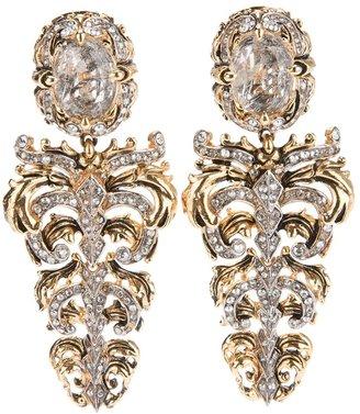 Roberto Cavalli crystal drop earrrings