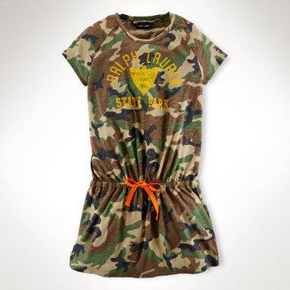 Camo Cotton T-Shirt Dress