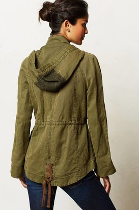 Anthropologie Hei Hei Camouflaged Lace Anorak