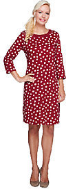Liz Claiborne New York Polka-Dot 3/4 Sleeve Knit Dress $11.96 thestylecure.com