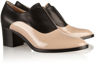 Reed Krakoff Two-tone leather and patent-leather Oxford pumps