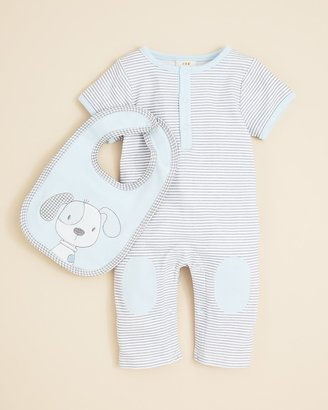 Absorba Infant Boys' Dog Coverall & Bib Set - Sizes 0-9 Months