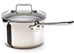 Emerilware Emeril from All-Clad Sauce Pan with Pouring Spouts and Straining Lid