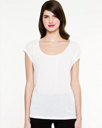 Le Château Essential Jersey Ruched T-Shirt