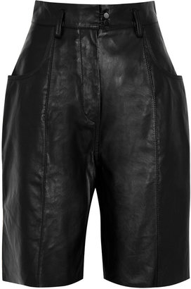 Petar Petrov Hugo Black Leather Shorts