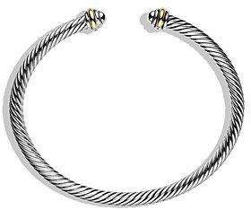 David Yurman Cable Classics Bracelet with 18K Gold, 4mm