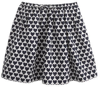 J.Crew Girls' full skirt in heart print