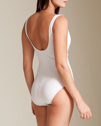 Karla Colletto Basic Tie Front Tank Swimsuit