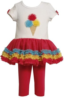 Bonnie Jean ice cream tutu tunic & leggings set - baby