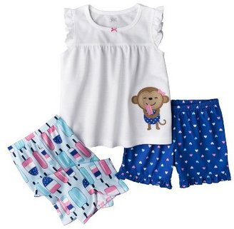 Carter's Just One You Made by Just One YouTM Made by Infant Toddler Girls' 3-Piece Pajama Set