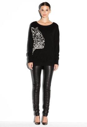 Milly Cheetah Intarsia Sweater