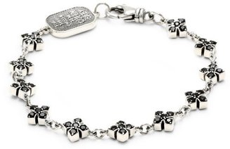 "King Baby ""Cross"" MB Cross Chain Bracelet with Black Cubic Zirconia $325 thestylecure.com"