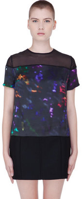 Preen Line Multicolor Silk Abstract Laxt T-Shirt