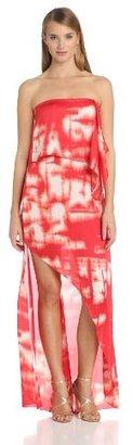 BCBGMAXAZRIA Women's Daniella Strapless Drape Maxi Dress