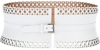 Alaia perforated wide belt
