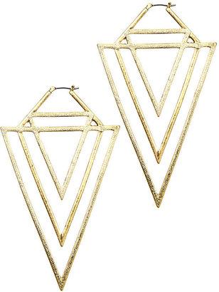 Rachel Roy Earrings, Gold-Tone Triangle Earrings