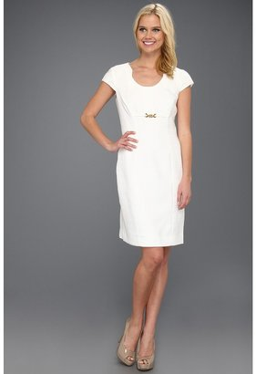 Tahari by Arthur S. Levine Tahari by ASL - C/S Pleat Neck Shift (Ivory) - Apparel