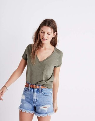 Whisper Cotton V-Neck Pocket Tee $19.50 thestylecure.com