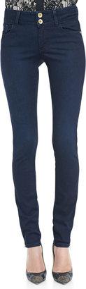 Alice + Olivia Two-Button Dark Skinny Jeans