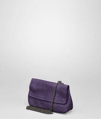 Bottega Veneta Plum intrecciomirage messenger mini bag
