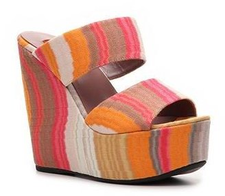Missoni Printed Fabric Wedge Sandal