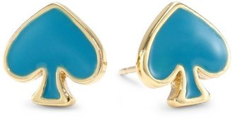 "Kate Spade SPADE TO SPADE"" Turquoise Stud Earrings"