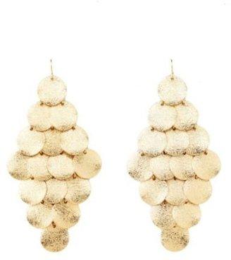 Charlotte Russe Textured Disk Dangling Chandelier Earrings