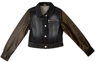 JCPenney BY AND BY GIRL by & by Girl Denim and Pleather Jacket - Girls 7-16