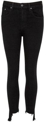 Rag & Bone 10 Inch Capri Black Skinny Jeans