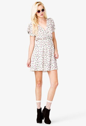 Forever 21 Georgette Ice Cream Print Dress