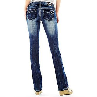 JCPenney Embellished Skinny-Fit Bootcut Jeans