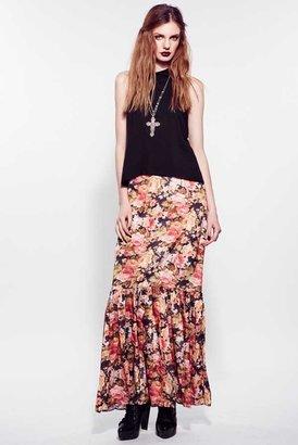 For Love & Lemons Holy Skirt in Dark Floral