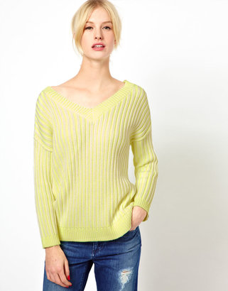 Jaeger Boutique by Neon Ribbed Reversible Chunky Knit