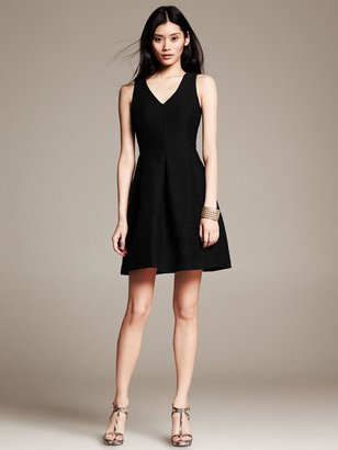 Banana Republic Tweed Fit-and-Flare Dress