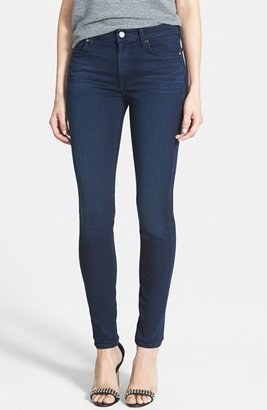 Women's 7 For All Mankind 'Slim Illusion Luxe' Mid Rise Skinny Jeans $198 thestylecure.com