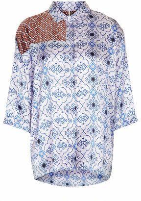 Topshop Folk panel shirt