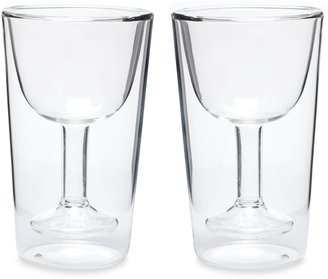 Oenophilia Double Wall Wine Glass Set (Set of 2)