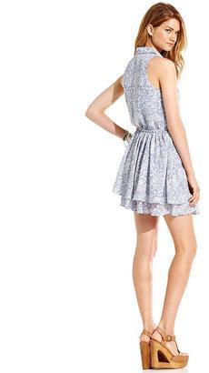 Tommy Hilfiger Juniors Dress, Sleeveless Tiered Floral-Print
