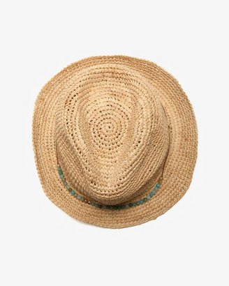 Hat Attack Beaded Raffia Fedora