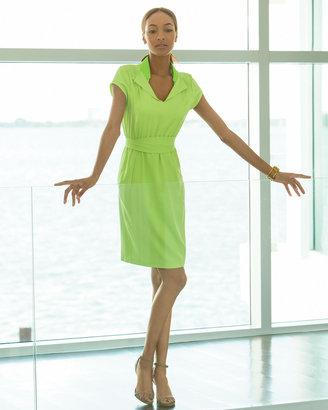 T Tahari Arlo Ruffle-Collar Dress